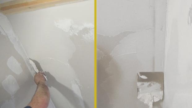 Wand- und Deckenanschlüsse verspachteln