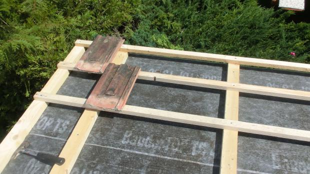 Dachlatten montieren