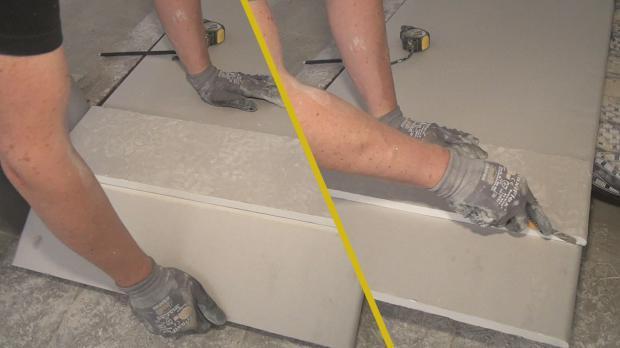 Gipskartonplatten schneiden und brechen