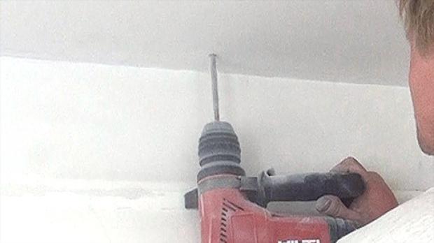 Bohren in eine Stahlbetondecke