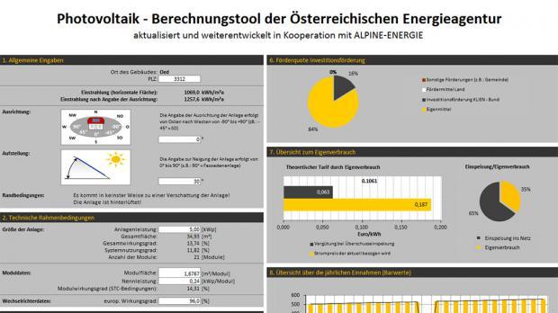 Tool der Österreichischen Energie-Agentur
