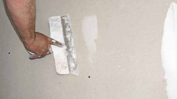 Wand Spachteln Mit Gipsspachtel