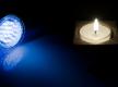 LED und Kerzenschein