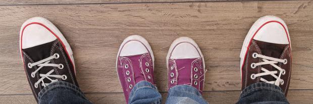 Schuhe erzeugen Abnutzung am Laminat