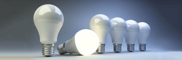 LED-Lampen geht ein Licht auf