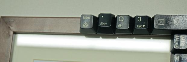 Bilderrahmen mit Tasten einer Tastatur