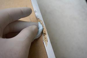 Schublade reparieren - Ausgerissene Spanplatte