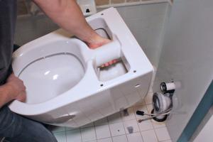 Toilette einbauen: Aquaclean Sela Stand-WC