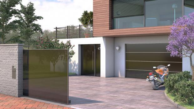 glasklare sache kreative design einfahrtstore in wohnen. Black Bedroom Furniture Sets. Home Design Ideas