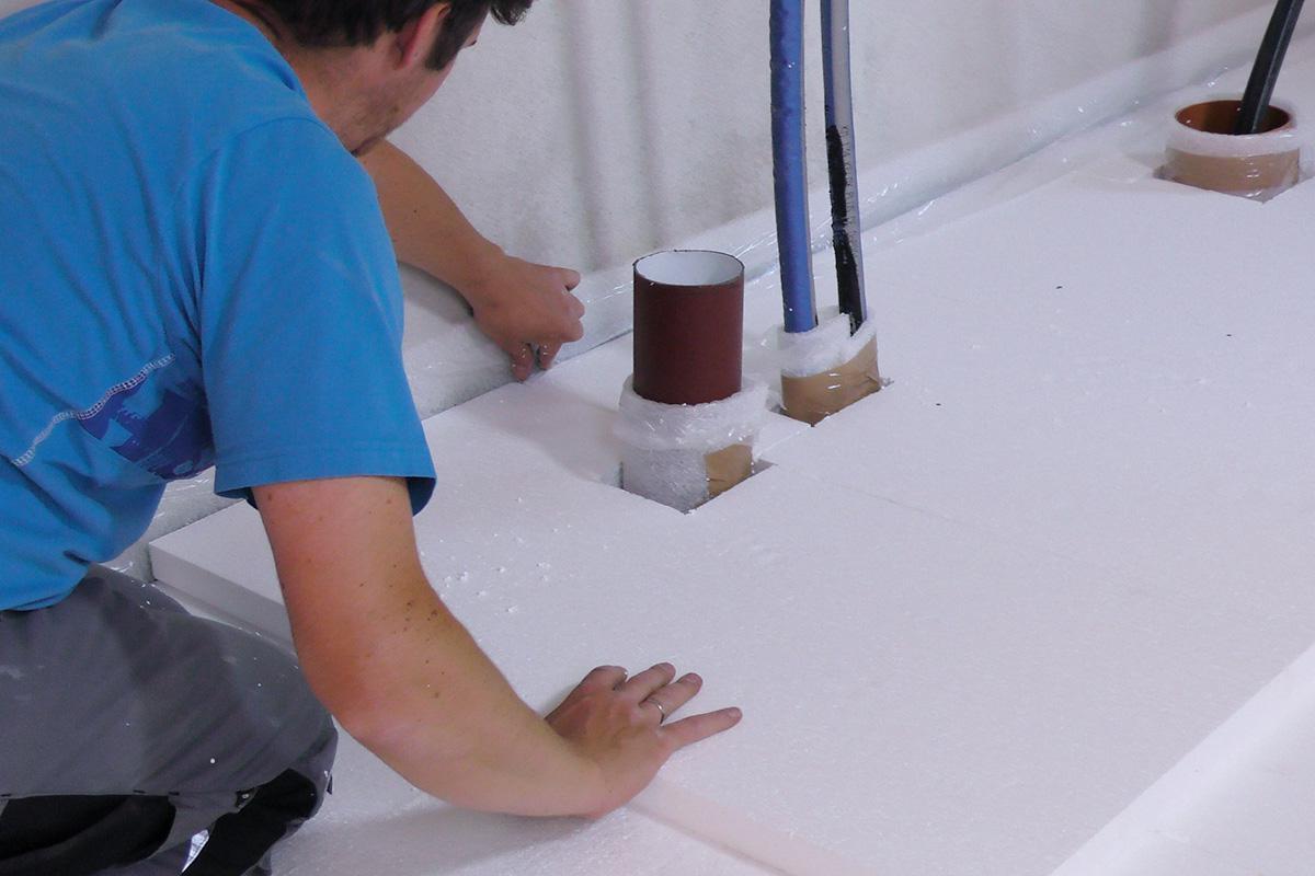 Fußboden Isolierung Verlegen ~ Estrichdämmung verlegen anleitung diybook at