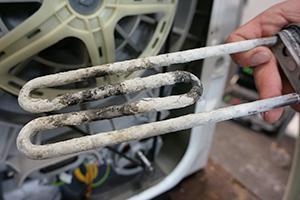 Aeg waschmaschine heizstab ausbauen und wechseln. reparatur