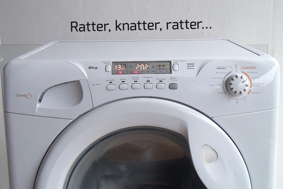 waschmaschine schleudern geräusche