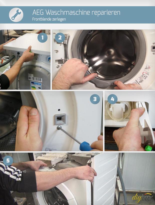 Super AEG Waschmaschine reparieren - Frontblende zerlegen. Reparatur PU63