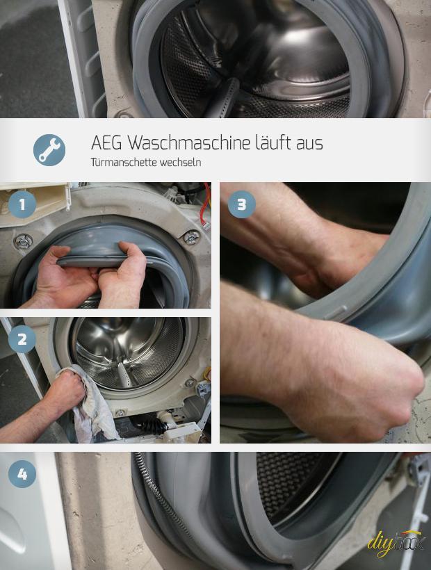 Turbo AEG Waschmaschine läuft aus - Türmanschette wechseln | Reparatur II35