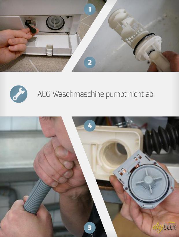 Fabulous AEG Waschmaschine - Pumpe wechseln. Reparatur-Anleitung @ diybook.at HX46