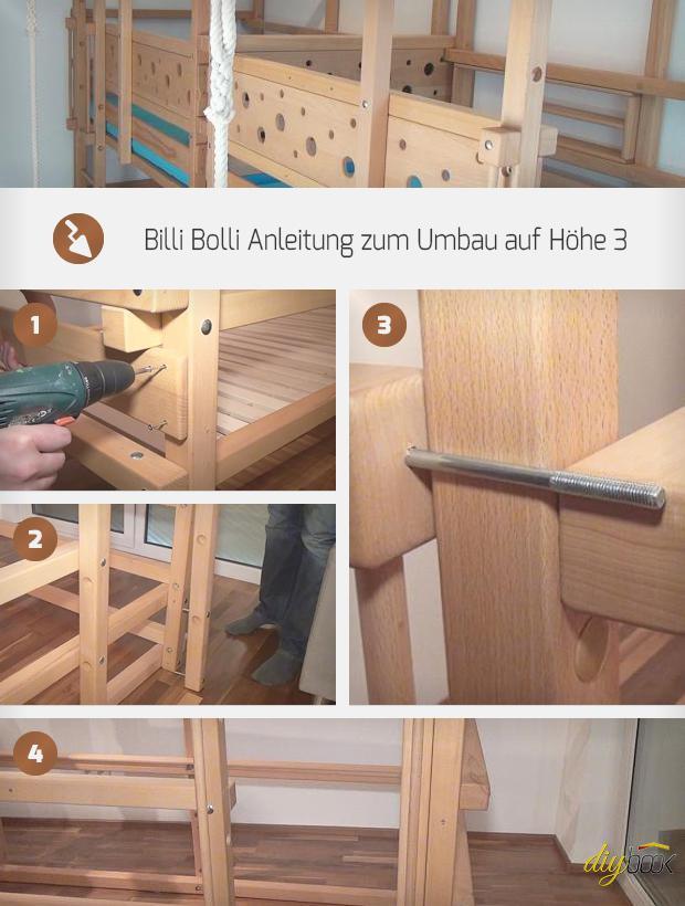 Billi Bolli Anleitung zum Umbau von Höhe 2 auf Höhe 3