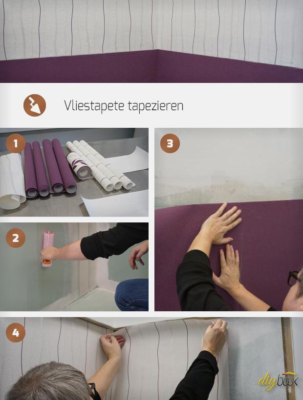 Vliestapete Tapezieren   Anleitung U0026 Tipps @ Diybook.at