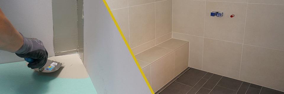 Bad Abdichten Anleitung Tipps Vom Fliesenleger Sanitäre - Badezimmer fliesen legen