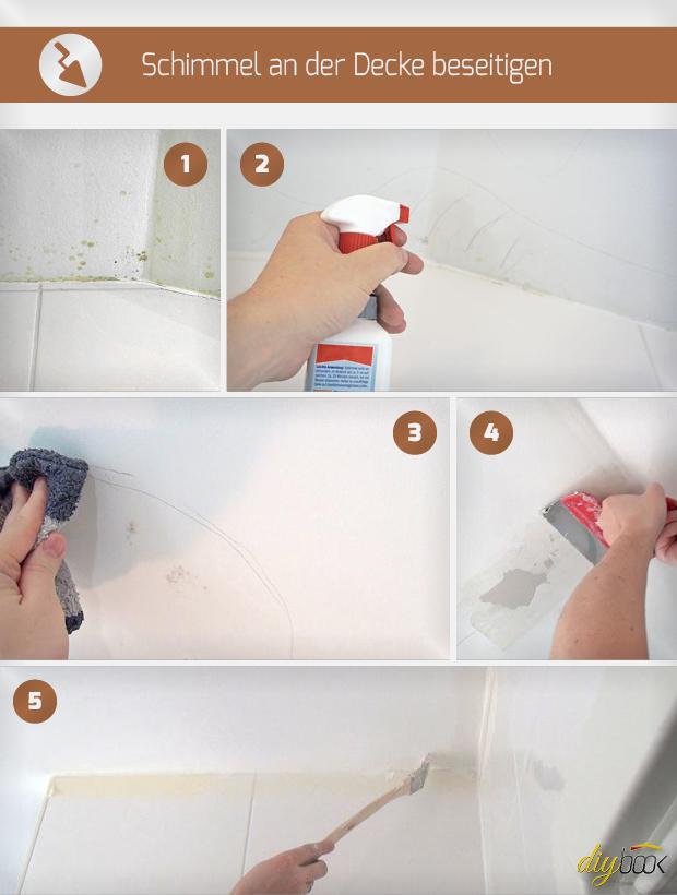 Schimmel An Der Decke Beseitigen Anleitung Tipps Vom Maler