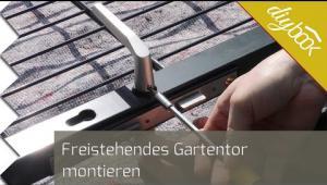 Embedded thumbnail for Gartentor montieren: Der freistehende Aufbau