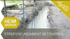 Embedded thumbnail for Streifenfundament betonieren