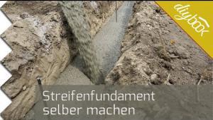 Embedded thumbnail for Streifenfundament selber machen