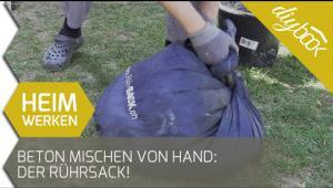 Embedded thumbnail for Beton mischen von Hand: Der Rührsack in Aktion