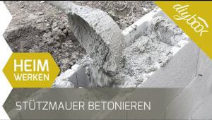 Embedded thumbnail for Stützmauer betonieren