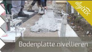 Embedded thumbnail for Bodenplatte nivellieren