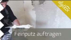 Embedded thumbnail for Wand verputzen: Feinputz auftragen