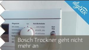 Bosch trockner geht nicht mehr an video anleitung diybook at