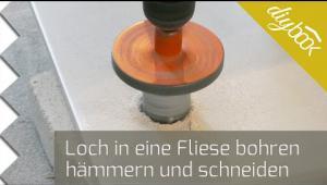 Embedded thumbnail for Ein Loch in eine Fliese bohren, hämmern und schneiden