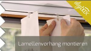 Embedded thumbnail for Lamellenvorhang anbringen