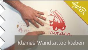 Embedded thumbnail for Kleines Wandtattoo kleben
