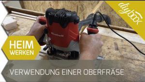Embedded thumbnail for Nut in Holz fräsen – Der Umgang mit der Oberfräse