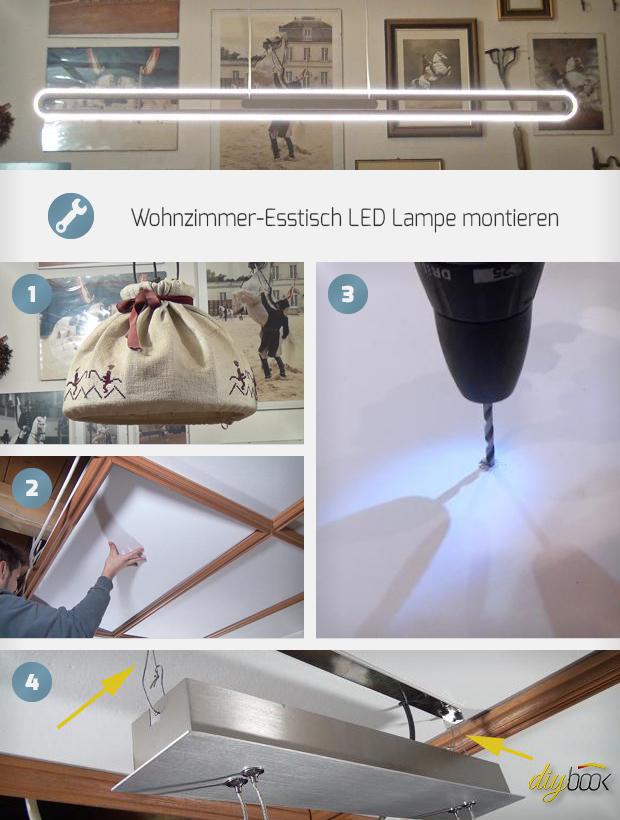 wohnzimmer esstisch led lampe montieren anleitung. Black Bedroom Furniture Sets. Home Design Ideas